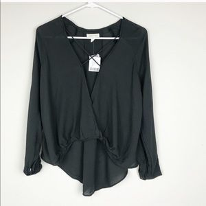 NEW Urban Outfitters Mayfair Plunge Cross Shirt